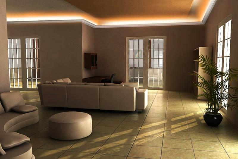Stuckleisten Indirekte Beleuchtung Für LED Profile von ...
